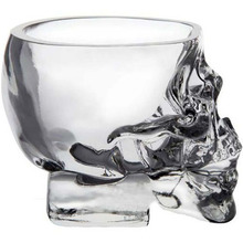 1 pc Doomed Skull Glass Wine mug Beer Glasses Shot Crystal Skull Head Vodka Shot Wine Novelty Cup Cheap Horror Toy