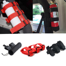 2 Style Black & Red Roll Bar Fire Extinguisher Holder Oxford for Jeep Wrangler 2007 up