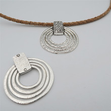 5 units antique sliver circle Loop statement Necklace pendant jewelry finding suppliers D-3-80(Portugal)