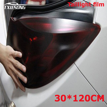 New arrival 30*120CM Matt black tail light Film Tint Taillight Motorbike Headlight Rear Lamp smoked Tinting Film Matt smoke film