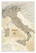 High quality HD wall Vintage Italy map oil painting on canvas wall pictures living room cuadros decoracion poster NO Frame CP07(China)