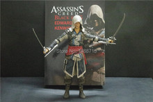 Hot Sale Edward Kenway Huge 30CM Action Figure Toys From Xbox360 PSP PC Game Assassin's Creed Black Flag New Box(China)