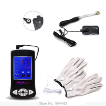 Electro Sex Kit Electric Massage Stimulate Gloves Electro Sex Toys For Men Conductive Gear Wheel Estim Shock TENS For Women(China)