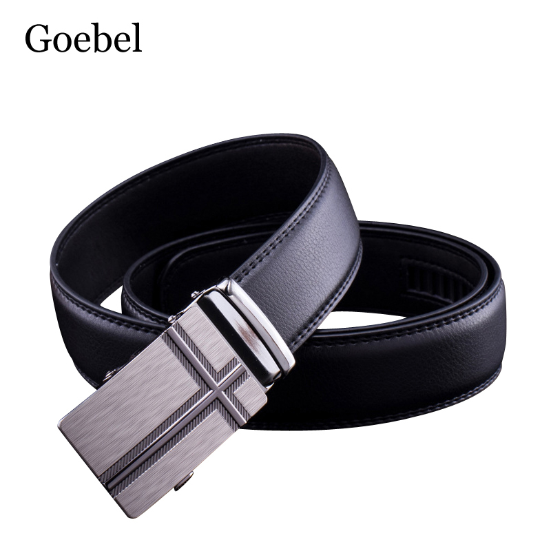 Goebel Fashion Men Belt Popular PU Leather Man Belt Casual Business Automatic Buckle Mens Name Brand Belts(China)