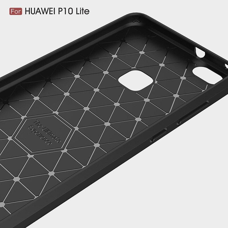carbon fiber brushed silicone case huawei P10 Lite (4)