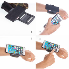 TFY Open Face Sport Armband Wrist Band Holder + Detachable Case for iPhone 6/6S Plus, Black & Camo belt - (Open-Face Design)(China)