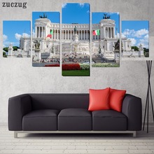Unframed Rome Italy City Monuments 5 Piece  Walling Art Picture Paint on Canvas Home Decor Paintings for Living Room