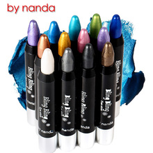 BY NANDA 2018 Brand Automatic rotation of the high-brightness eye shadow pen white pens pen silkworm pen wholesale color easily(China)