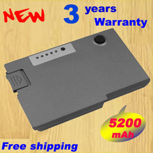 5200mAh laptop battery for dell Latitude D500 D510 D520 D530 D600 D610(China)