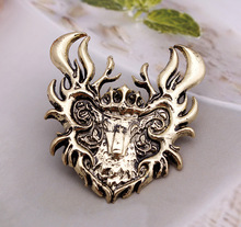 nice design House emblem A Song of Ice and Fire Game of Thrones Fire Bucks Pin brooches jewelry House Baratheon emblem