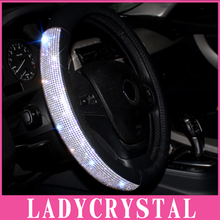 Buy Ladycrystal Genuine Leather Car Steering Wheel Cover Luxury Real Leather Diamond Steering Wheel Covers Women Car Styling for $28.69 in AliExpress store
