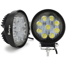 2pcs Perfect waterproof 27w work light Epistar flood offroad truck working lights round design 12v 24v led work light on sale(China)