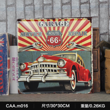 GARAGE SERVICE REPAIR Large Vintage Metal Painting Poster Wall Sticker Tin Sign Retro Iron Art Bar Cafe Wall Decoration 30X30 CM(China)