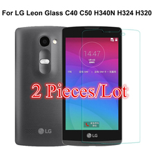 Buy 2PCS sFor Glass LG Leon Tempered Glass LG Leon Screen Protector LG Leon Glass C40 C50 H340N H324 H320 9H 2.5D Thin Film for $2.39 in AliExpress store