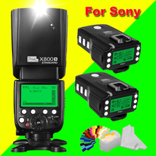 Pixel X800S Standard Wireless HSS TTL Flash Speedlite+2X King Pro 2.4G Flash Trigger Transceivers For Sony A7 A7S A7R A7RII(China)