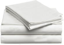 100% Egyptian cotton 1200 TC white color Queen size bed for one flat sheet 240 x 223 cm customize(China)
