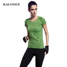 RALONEX Women Yoga Shirts Clothing Sports Jerseys Fitness Short Sleeve T Shirt Gym Running Exercises Quick Dry Female Yoga Tops