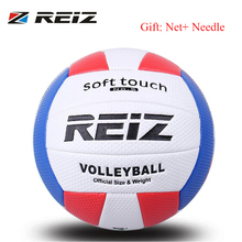 REIZ Volleyball Ball Indoor Outdoor Competition Training Ball Men Women Official Size Weight Soft Touch Volleyball high quality(China)