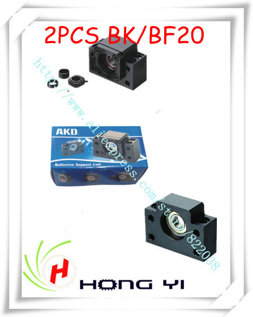 Ballscrew End Supports 2pcs BK20 + 2pcs BF20 2505 2510 ballscrew End Support CNC Parts for SFU2505 SFU2510<br><br>Aliexpress