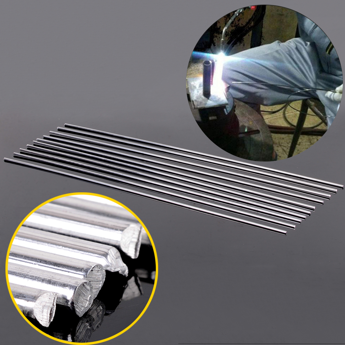 10pcs Aluminium Tig Welding Soldering Brazing Rods with Corrosion Resistance 3.2mmx450mm