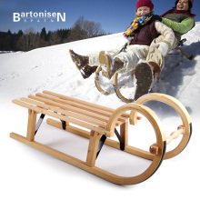 Bartonisen Wood Sled Kids Adults Snow Sled With Beech Christmas Gift For Decoration snow board slitta neve XQ23