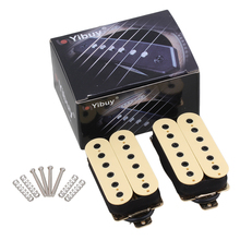 Yibuy Electric Guitar Neck Bridge Pickup Humbucker Double Coil Creamy-White High Output(China)