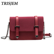 TRISJEM bags for women 2017 woman messenger bags small crossbody bags for women fashion cute mini chian shoulder bag black/pink(China)