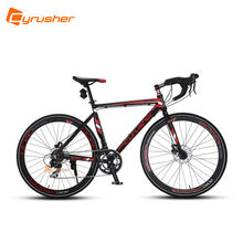 Cyrusher Road Bike 700C*52cm Aluminum Alloy frame Travelling Cycling 14 speed Racing Bicycle US Warehouse Black-red - Official Store store