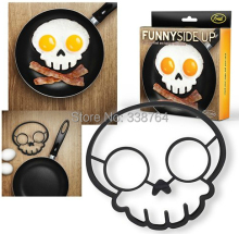 Kitchen Tool Skull Head Egg Sharkers Shaper Silicone Cooking Tools Moulds Ring Eggs Fried Frying Mold Food Silicone Skull Tool