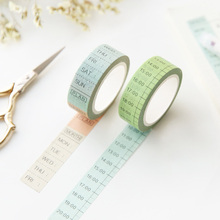 Japan Washi Tape Notebook Schedule Diary Timeline Weekly Plan For Planner Scrapbooking Tools Practical Decoration Adhesive Tape