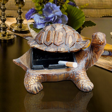living room decoration luxury retro coffee table bar desktop turtle ashtray The tortoise statue home decoration accessories