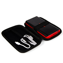 Kmashi Weatherproof External Battery Bag Dual Zippers Pouch w/strap Carrying Case Cover for mobile phone