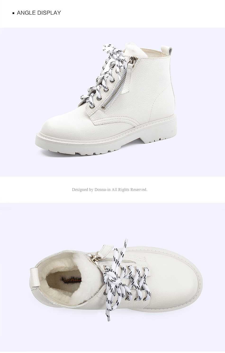 Donna-in Winter Martin Boots Women Platform Ankle Boots Heels White Motorcycle Punk Booties Fur Lace Up Snow Shoes for Ladies (1)