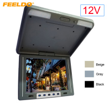"DC 12V 12.1"" Flip Down TFT LCD Monitor Car Bus Monitor Roof Mounted Monitor 2-Way Video Input 3-Color +Random Gift #FD-1944"