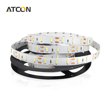 1Roll / 5M Cold White Ultra Brighter 7020 SMD LED Strip light String DC12V 60LEDs/M Flexible LED Tape Ribbon Indoor Decoration