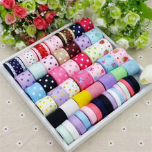 New 51Meters Mixed Color Diy accessory material accessories bow hairpin cotton lace printe mixed ribbon set Handmade Craft Pack