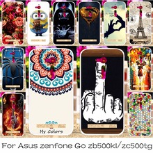 Silicon OR Plastic Mobile Phone Case Cover For ASUS ZenFone Go ZB500KL ZB500KG/ZC500TG GoZ00VD Shield Back Covers Shell Housing
