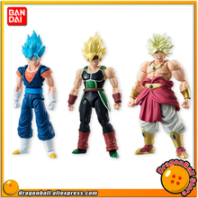 "Japan Anime ""Dragon Ball Z"" Original BANDAI Tamashii Nations SHODO Vol.5 Action Figure - Vegetto & Bardock & Broly (9cm tall)"