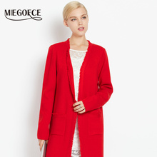 New Autumn Collection 2016 MIEGOFCE Autumn Ladies' Coat Cardigan With Long Sleeves Women Party Coat(China)