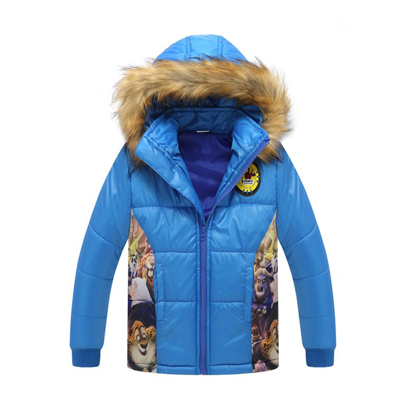 2017 New Fashion Winter Coat Kids Cartoon Parka Kids Coats Hooded Long Sleeve Down Jacket Girl Boy Infant Outerwear One Pioces<br>