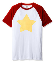 Hot sale STEVEN UNIVERSE STAR print 2018 summer fashion t shirt men short sleeve raglan tshirt brand clothing harajuku top tees(China)