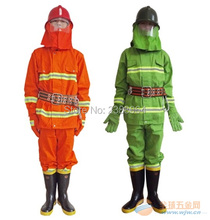 lOW PRICE SALE AS ONE SET INCLUDING(Helmet gloves boots belt)Comfortable fabric fire rescue suit for fire man