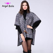 Angel Bola 2017 Fashion Women Winter Leopard Pashmina Cashmere Shawls Scarf Women Blanket Scarf Patchwork Wraps long Scarf