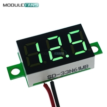 0.36 Inch Mini Digital LED Display Voltmeter Green Panel Voltage Meter DC 4.7~32V 3-Digit Display Adjustment Voltmeter