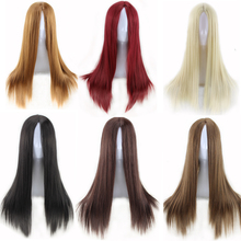 high quality women wigs natural hair heat resistant synthetic wigs long straight wig cosplay black burgundy brown blonde wig