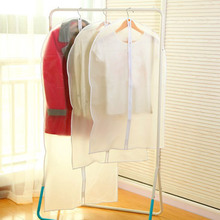 Great Clothes Clothing Dust Cover Transparent Suit Middle with zipper Dust Cover(China)