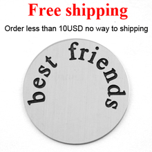 Free shipping new arrival 22mm 316L Stainless Steel floating plates best friends for Lockets 30mm(China)