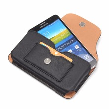 "Outdoor Magnetic Wallet PU Leather Horizontal Case For samsung galaxy note 2 3 4 5 6.3"" Below Wallet Cover Hook Loop Belt Pouch"