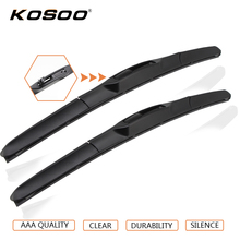 "KOSOO Auto Car Wiper Blade For Mitsubishi Outlander (2007-2012),24""+21"" 2pcs Soft Rubber Windscreen Wipers Blade Car Accessories(China)"