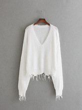 A14 Europe and America fashion wind deep V sweater